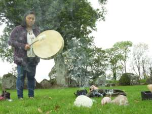 Shamanic Drumming at the Lough Gur Stone Circle.